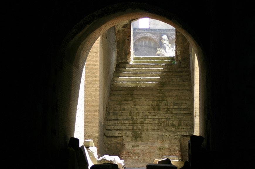 Colosseum Flavian Amphitheater Rome interior 6