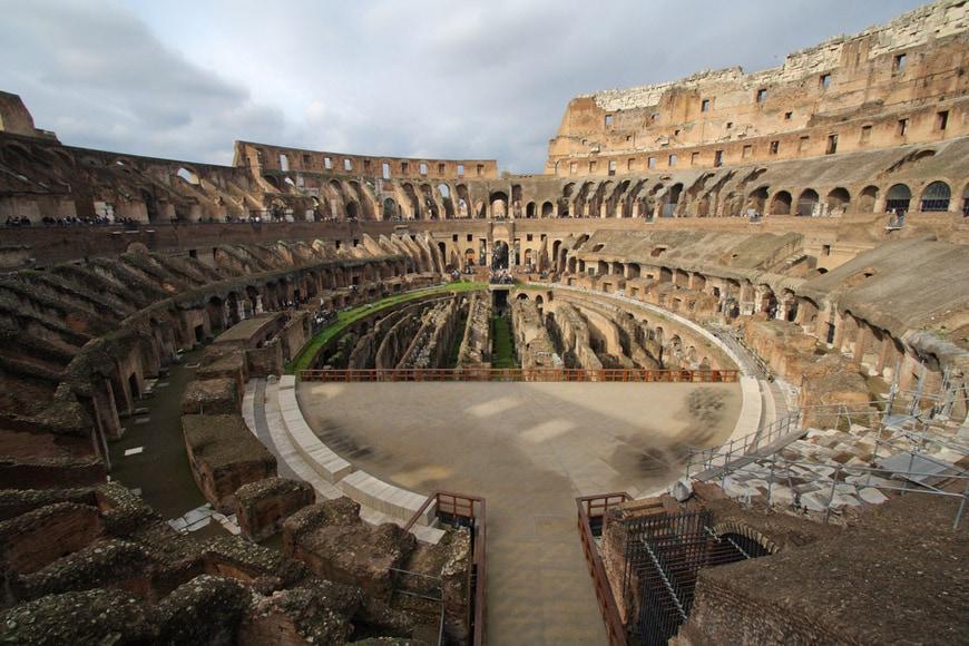 Colosseum Flavian Amphitheater Rome interior 7