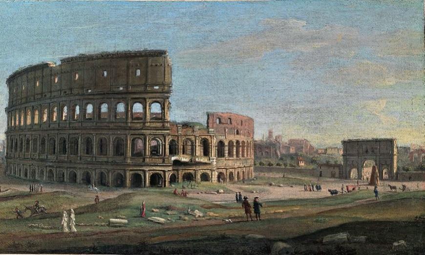 Colosseum Flavian Amphitheater Rome painting Gaspar van Wittel