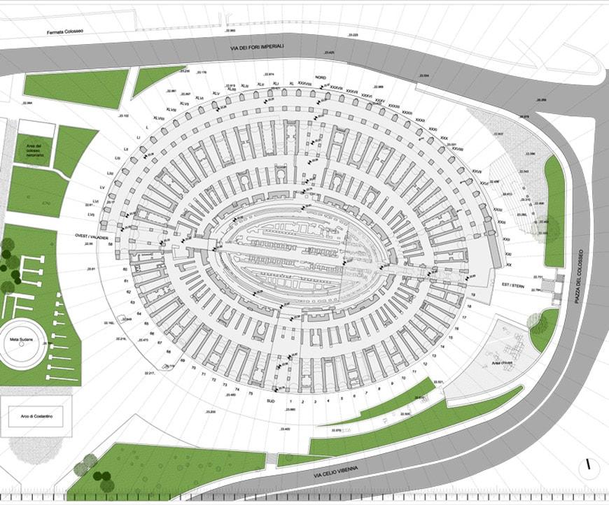 Colosseum-Flavian-Amphitheater-Rome-plan