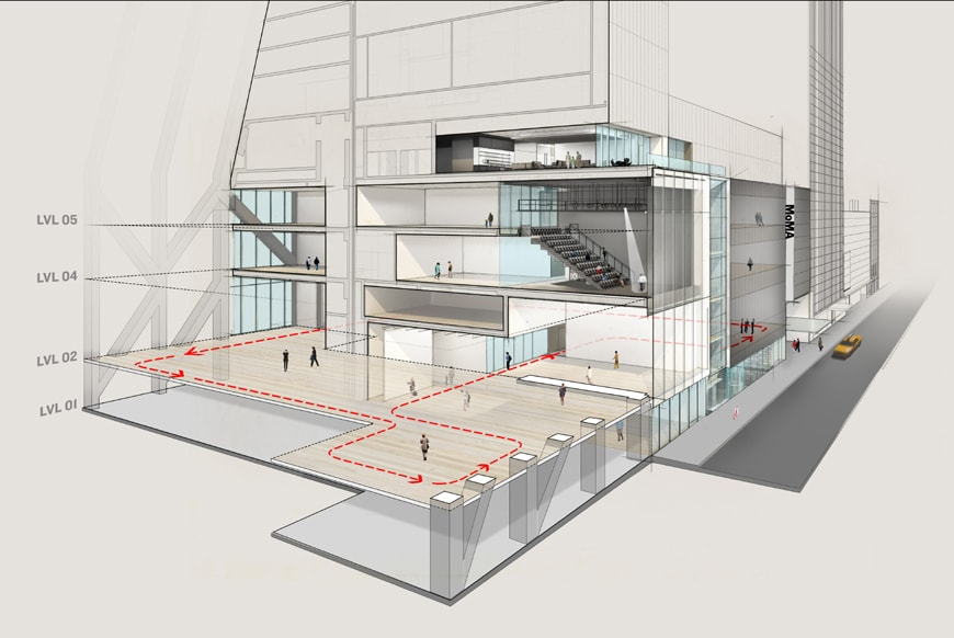 Moma-Diller-Scofidio-north-south-section-perspective