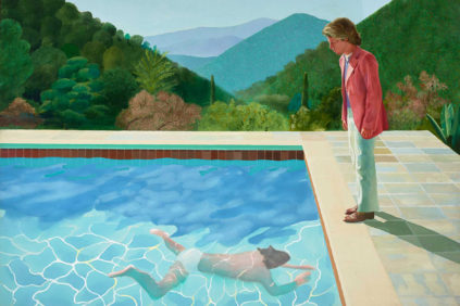 centre-pompidou-David-Hockney-Portrait-of-an-Artist-Pool-with-Two-Figures-1971-Private-Collection