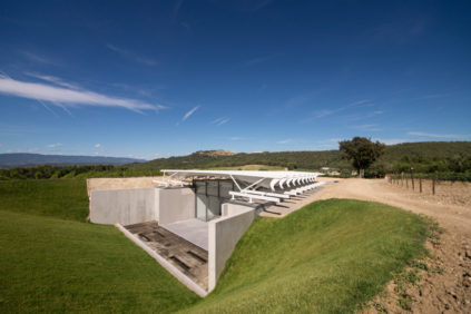 Renzo Piano's exhibition pavilion at Château La Coste, southern France