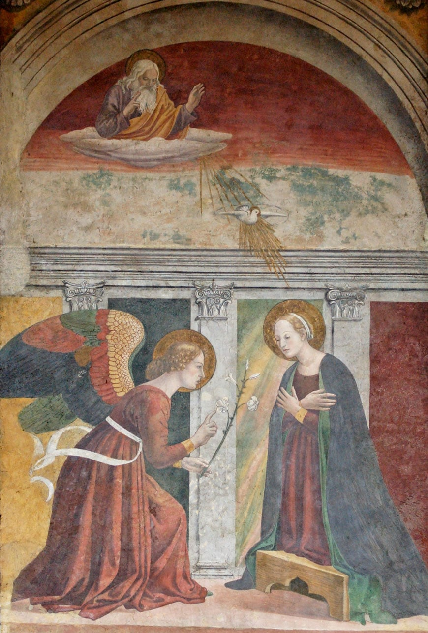 Annunciation fresco Melozzo da Forli Pantheon Rome