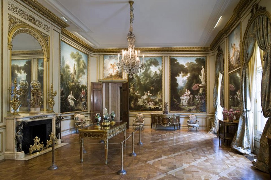 Frick Collection New York garden Fragonard room
