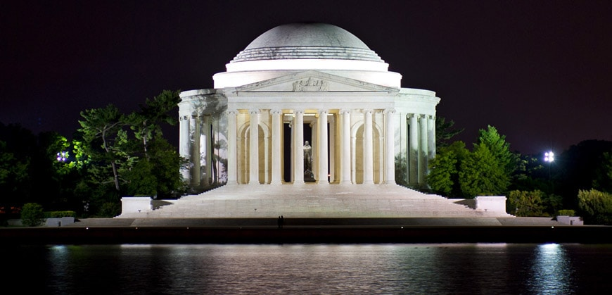 Jefferson Memorial Washington Pope