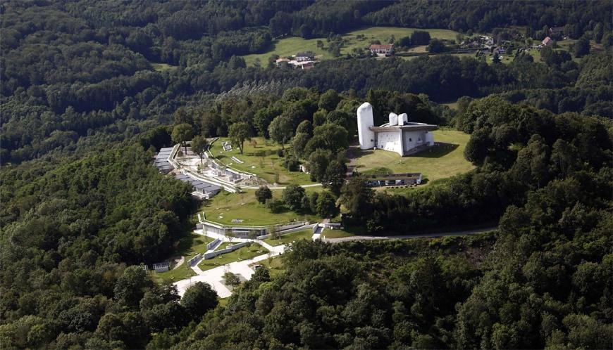 Le Corbusier Notre Dame du Haut Ronchamp Chapel aerial 1