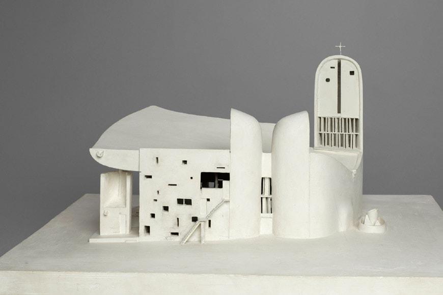 Le Corbusier Notre Dame du Haut Ronchamp Chapel chalk model