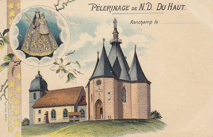 Le Corbusier Notre Dame du Haut Ronchamp Chapel postcard 2