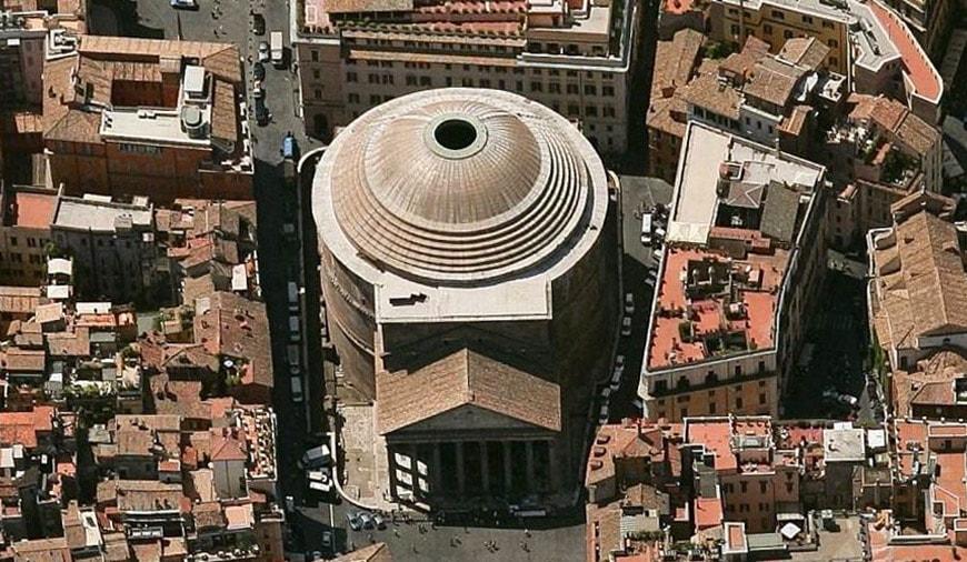 Pantheon Rome aerial 2
