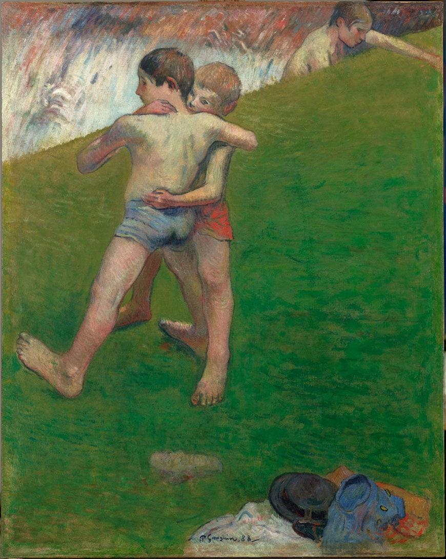 Paul Gauguin children wrestling Louvre Abu Dhabi