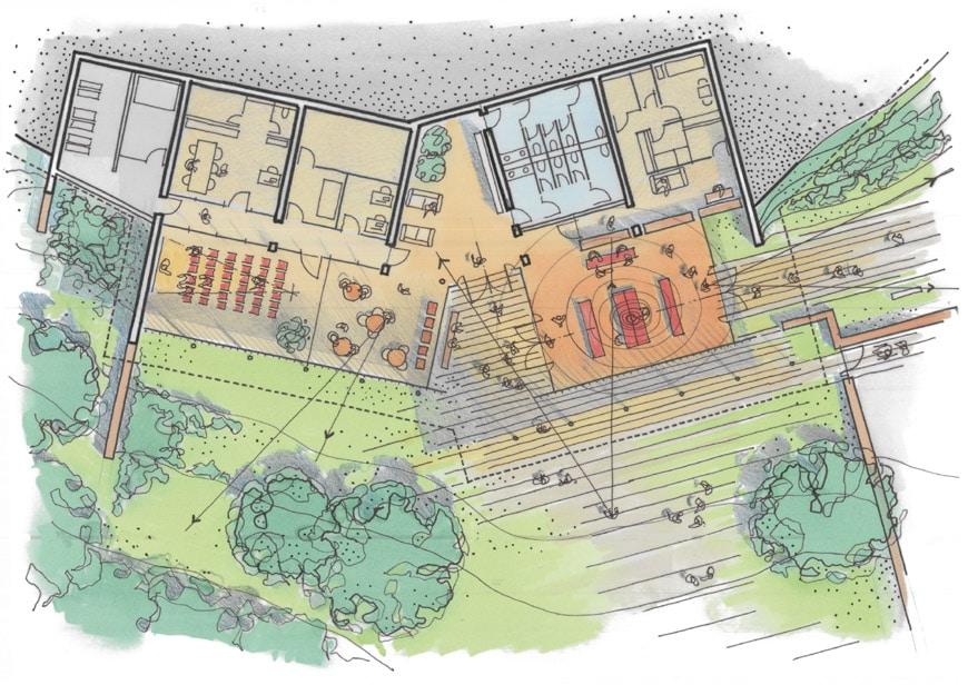 Renzo Piano Notre Dame du Haut Ronchamp gatehouse plan