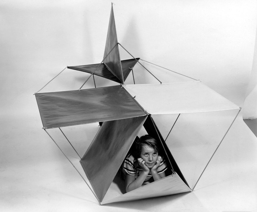 Vitra-An Eames Celebration-Publicity photograph of The Toy in the airplane configuration- Eames Office