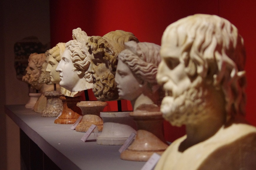 Ducal Palace Mantua Roman busts