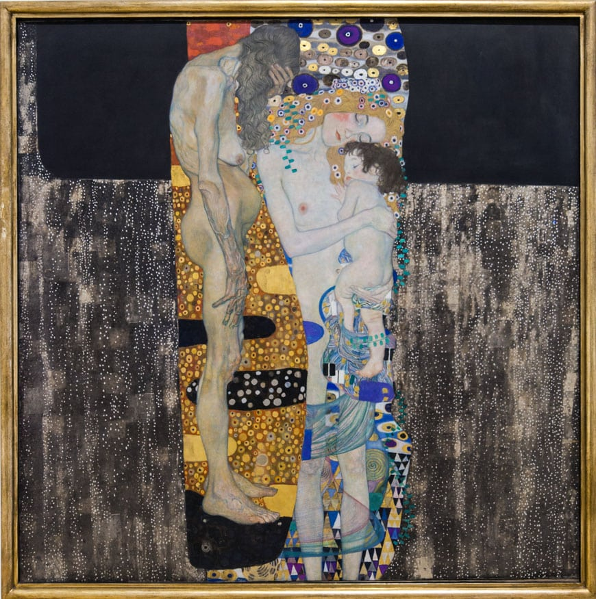Gustav Klimt Three Ages of Woman Inexhibit