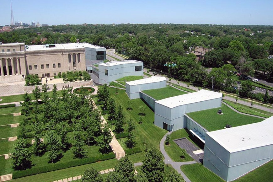 Nelson Atkins Museum of Art Kansas City Steven Holl aerial