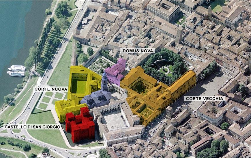 Palazzo Ducale Mantova vista aerea Ducal Palace Mantua aerial