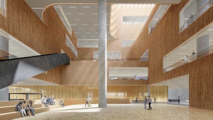 Schmidt-Hammer-Lassen-Shanghai-East-Library-lobby