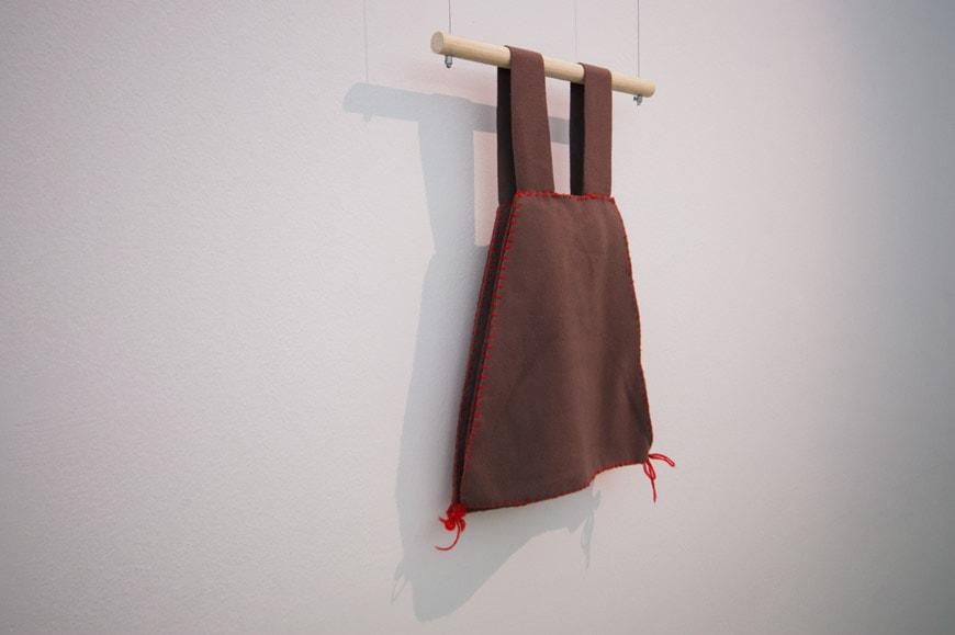 Lucia Barlolini Archizoom borsa grembiule apron bag cloth Inexhibit