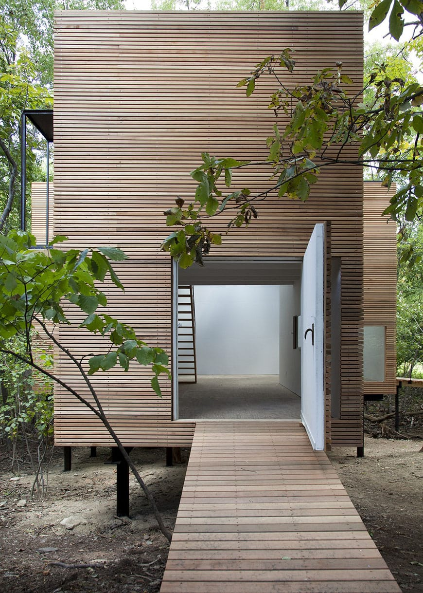 T Space exhibition pavilion Steven Holl exterior 3