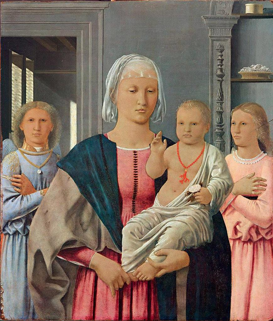 Urbino-Galleria-Nazionale-Marche-Piero-della Francesca-Madonna-di-Senigallia