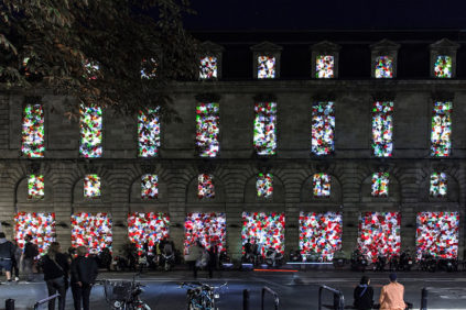 "Luzinterruptus ""The Plastic We Live With"" for FAB in Bordeaux"