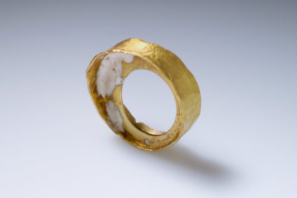 A3 gold and enamel ring patrizia-bonati