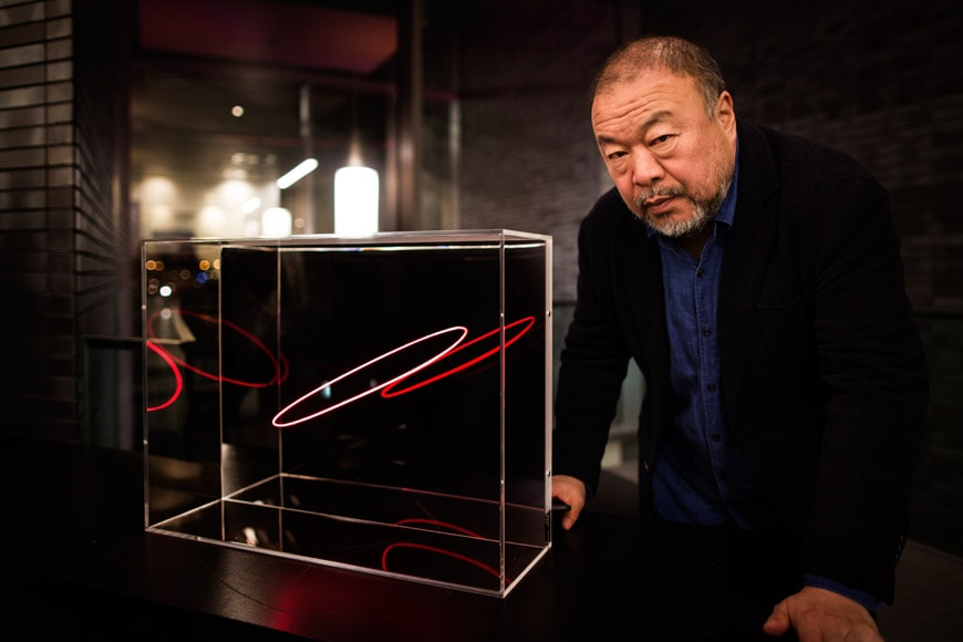 Ai Weiwei with Limited Edition - Copyright Janus van den Eijnden (54)