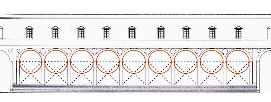 Filippo Brunelleschi Hospital of the Innocents Florence facade geometrical scheme