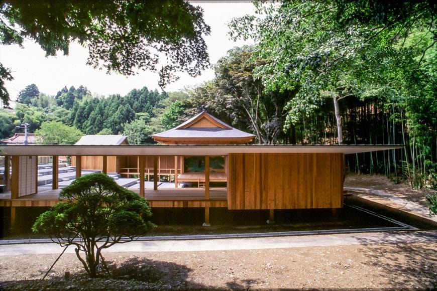 Noh Stage pavilion Kengo Kuma