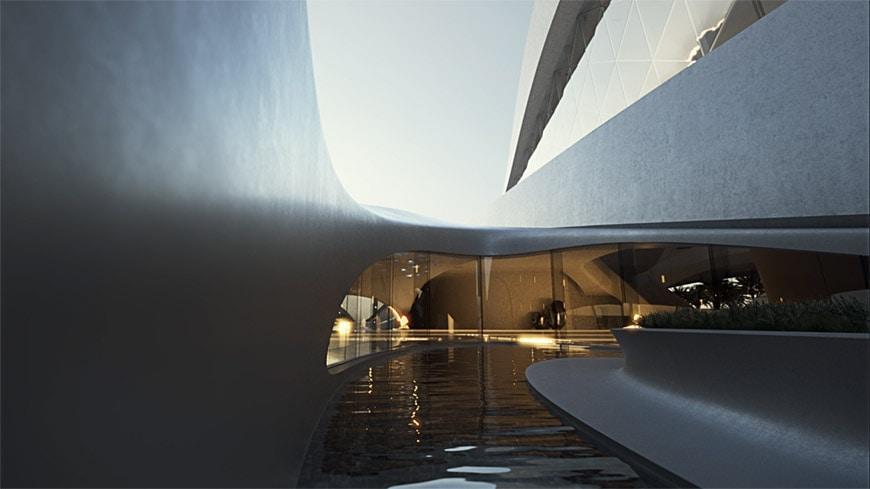 Zaha Hadid Architects Bee'ah headquarters UAE 14