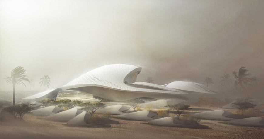 Zaha Hadid Architects Bee'ah headquarters UAE 5