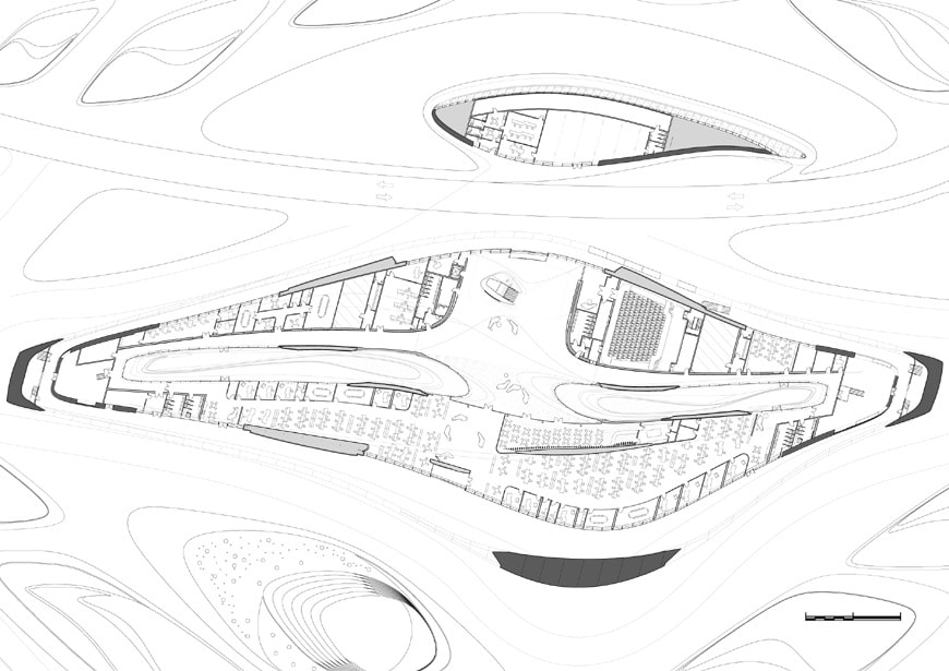 Zaha Hadid Architects Bee'ah headquarters UAE ground floor plan