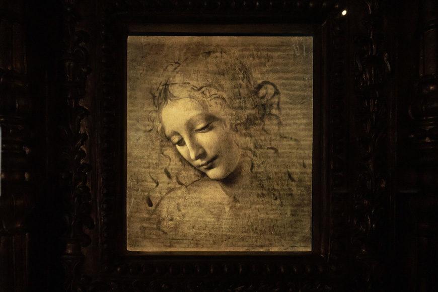 Leonardo da Vinci, Head of a Woman. La Scapigliata, Parma Inexhibit