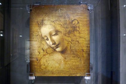 Leonardo da Vinci Head of a Girl Parma Galleria Nazionale