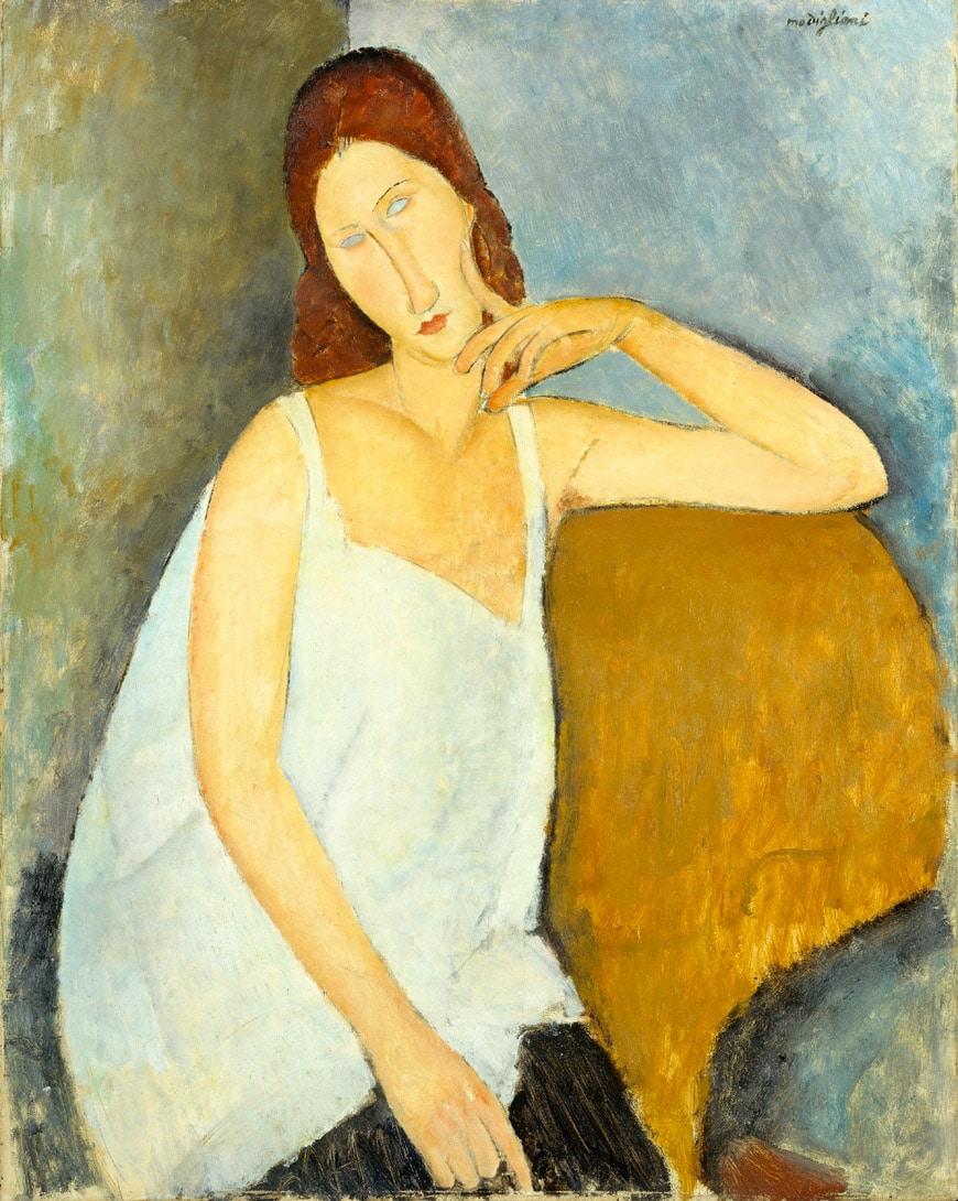 Modigliani-Tate-modern-Jeanne-Hébuterne-1919