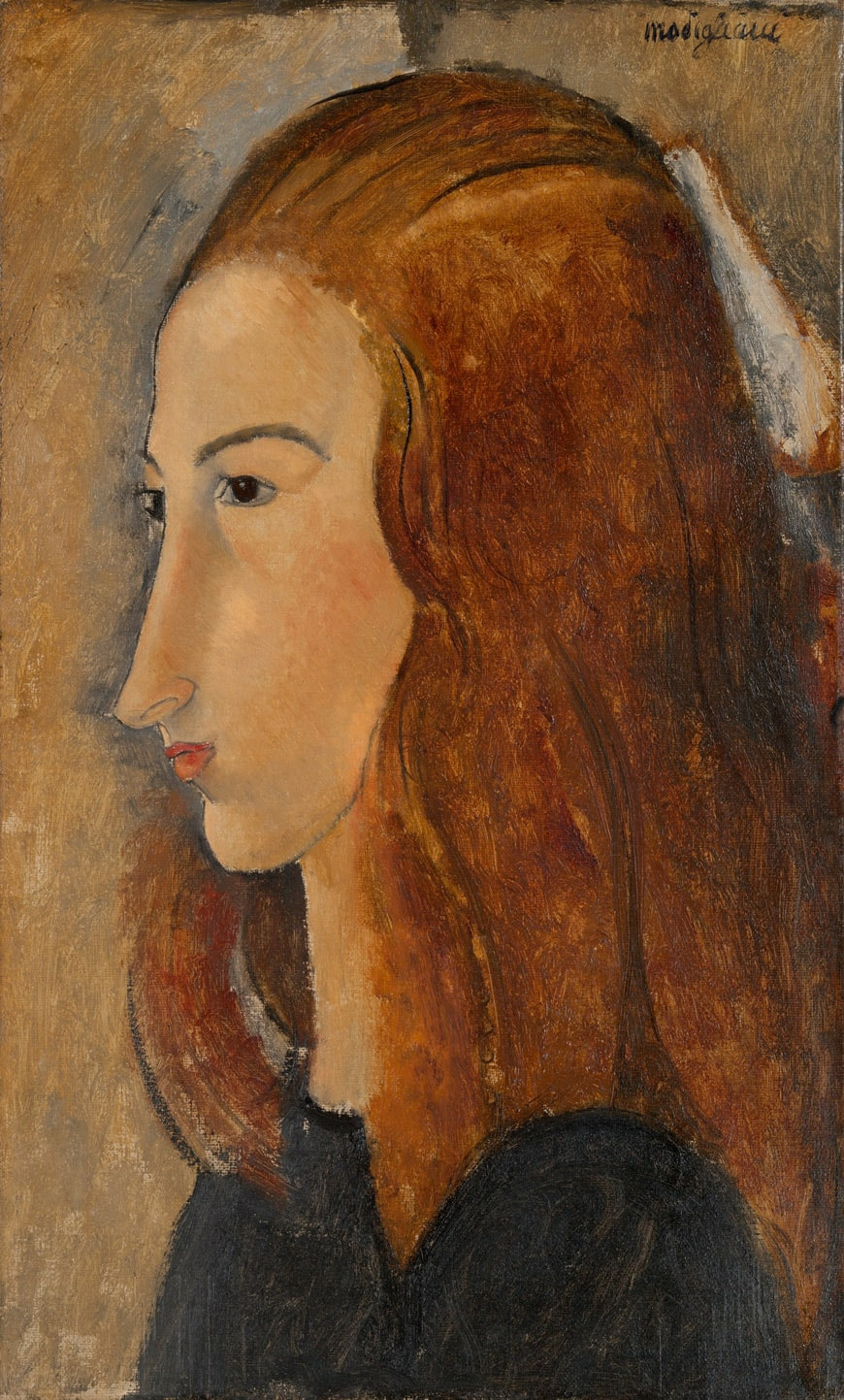 Modigliani-tate-modern-ID153-Portrait-of-a-Young-Woman-1918