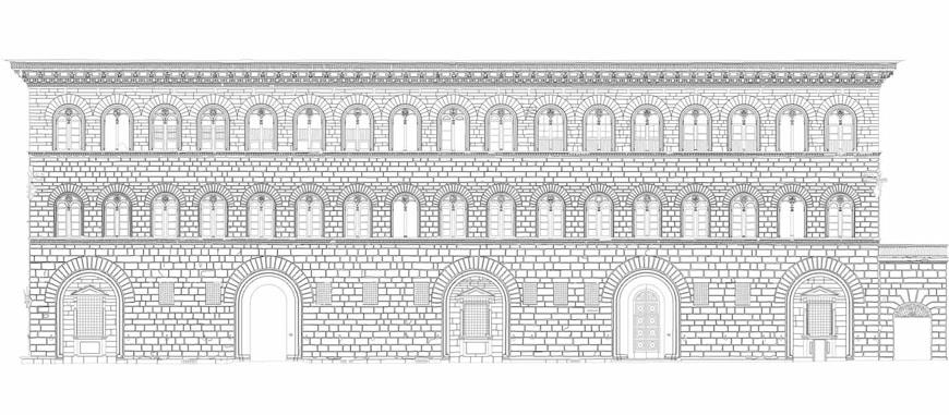 Palazzo Medici Riccardi Florence elevation drawing