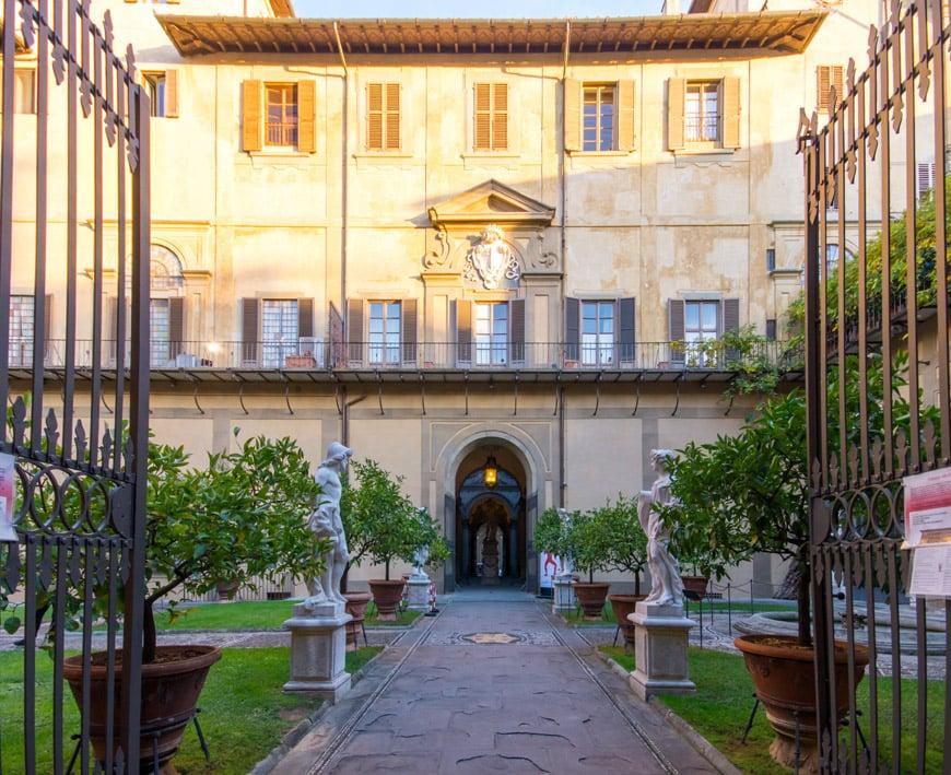 Palazzo Medici Riccardi palace Frorence Inexhibit 2l