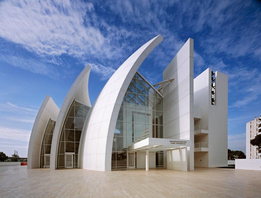 Richard Meier Jubilee Church Rome exterior