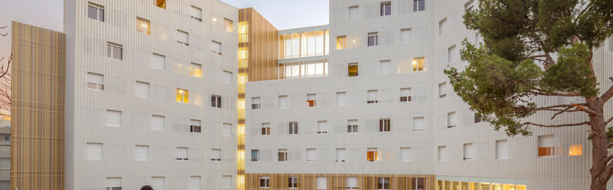 A+ Architecture | Lucien Cornil Student Residence. 8-storey CLT building