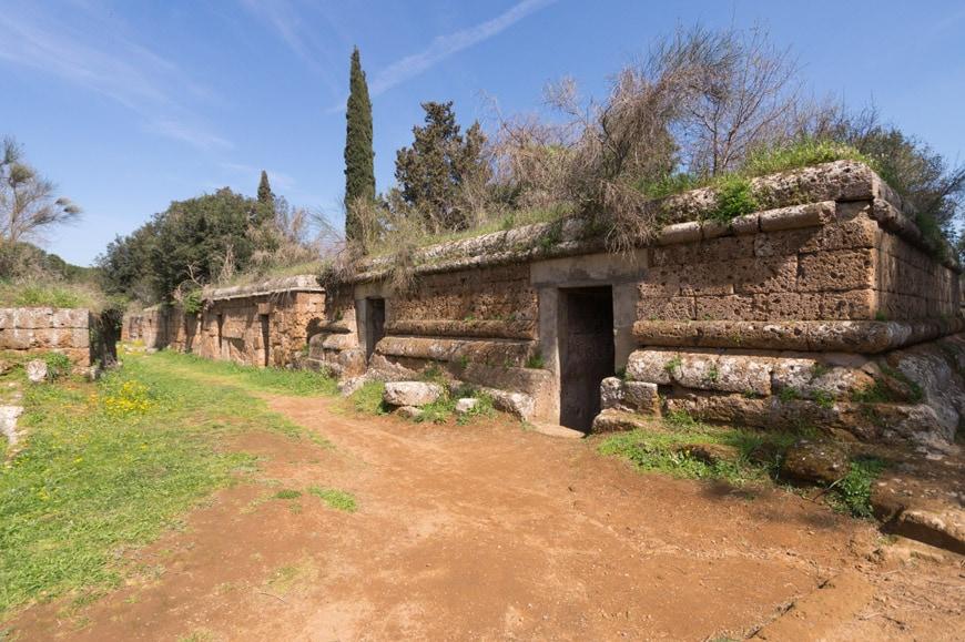 Banditaccia Etruscan Necropolis archaeological site Cerveteri Inexhibit 04s