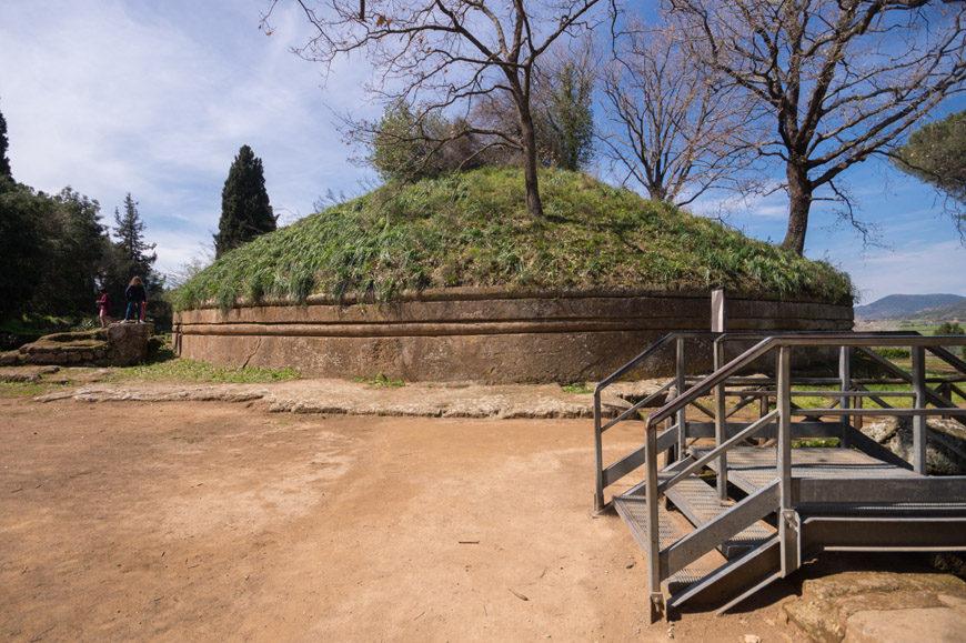 Banditaccia Etruscan Necropolis archaeological site Cerveteri Inexhibit 06s