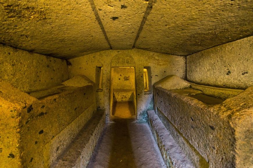 Banditaccia Etruscan Necropolis archaeological site Cerveteri Inexhibit 08s