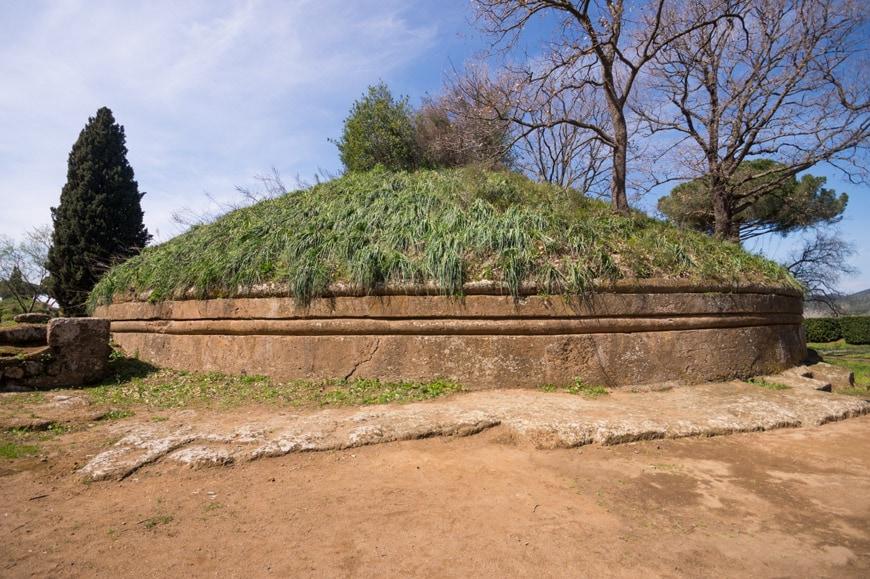 Banditaccia Etruscan Necropolis archaeological site Cerveteri Inexhibit 14s