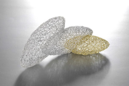 Eriko Unno - gold plated silver brooch - in.di Independent Design Index