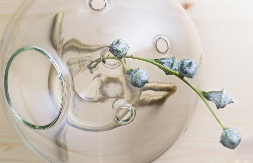 FUGU glass and brass vase KANZ architetti 1