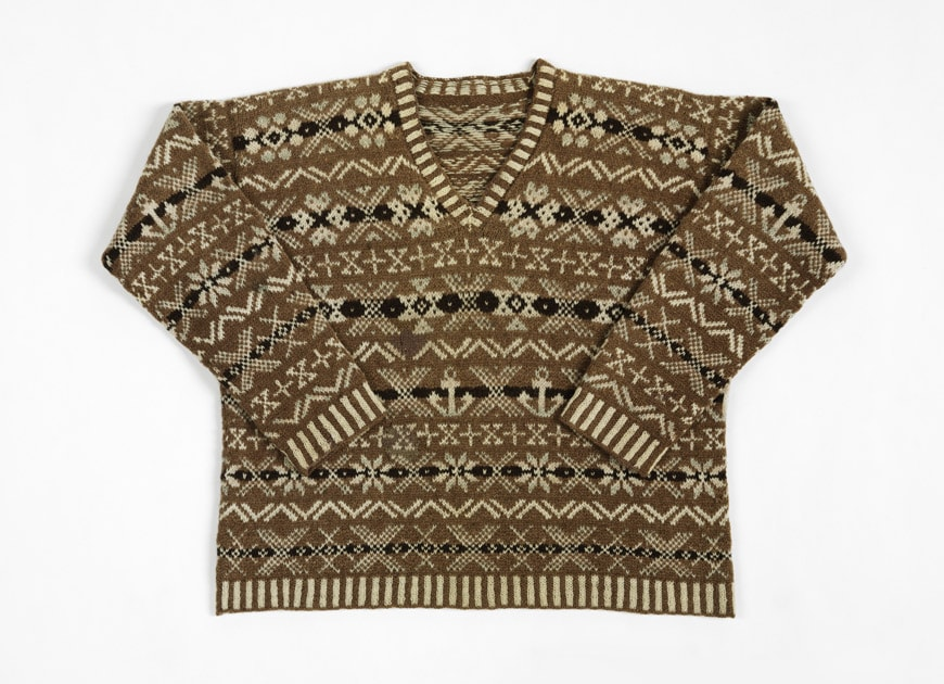 Golf sweater in hand-knitted two-ply wool, Shetland Islands, 1920s V&A Dundee