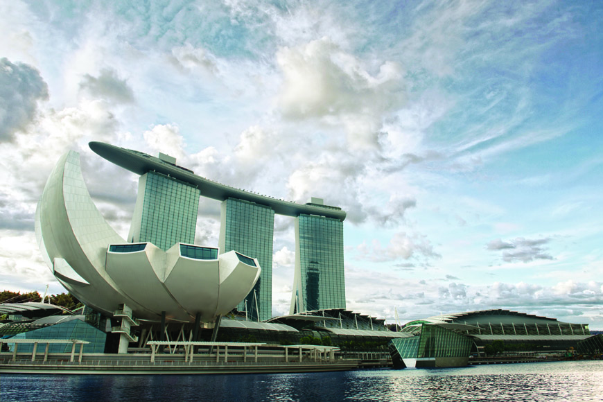 Moshe Safdie Marina Bay integrated resort Singapore