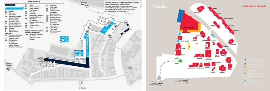 Venice Biennale Arsenale & Giardini map low